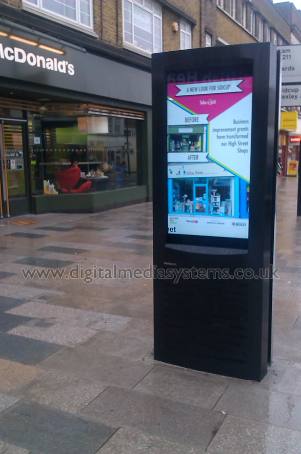 London Borough of Bexley. Outdoor Digital Display and new street paving.