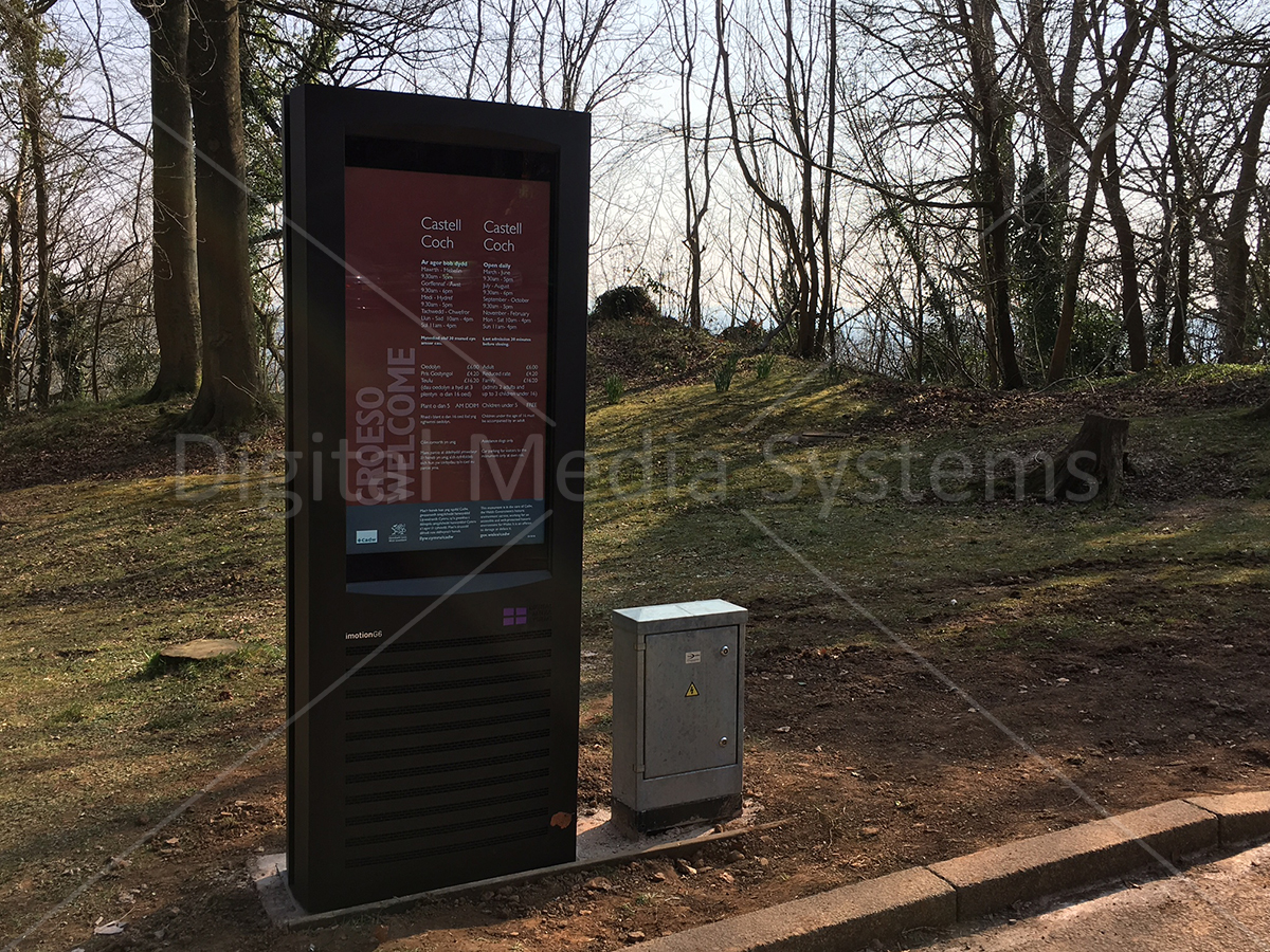 Digital Weather and Vandal proof Screen for Information