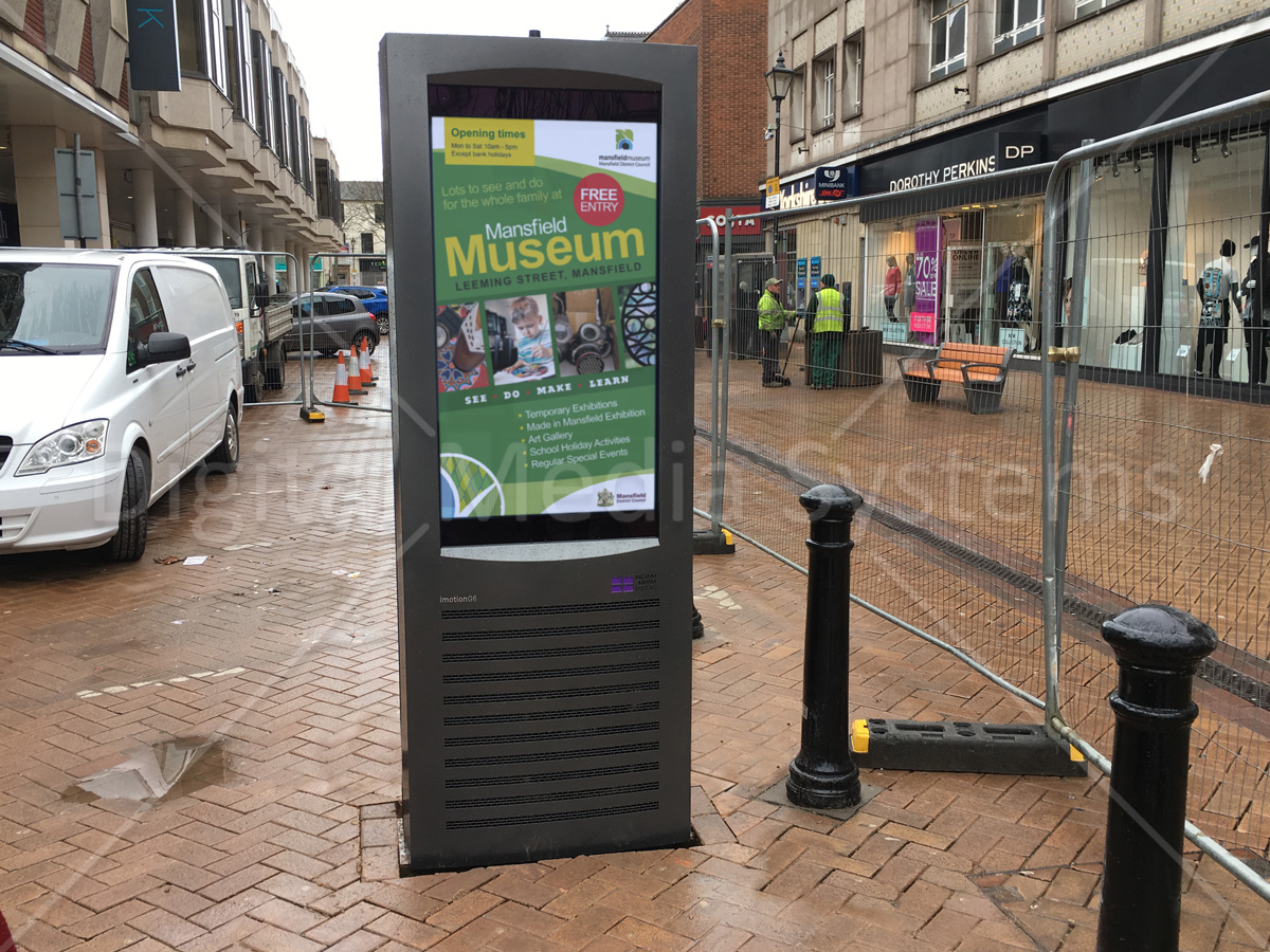 Town Centre TV screen display