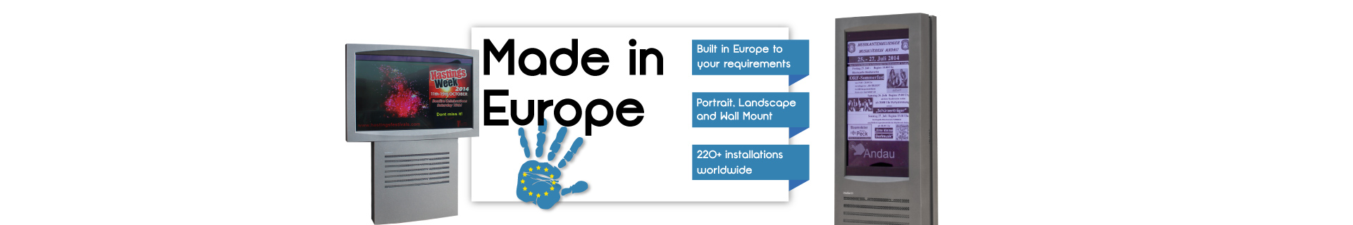 Digital Signage Banner for Europe